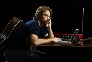 coulton at desk 300x203 Jonathan Coulton and TMBGs John Flansburgh on The Sound of Young America