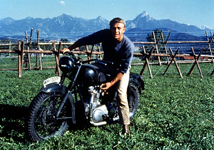 steve mcqueen great escape Steve McQueen in The Great Escape