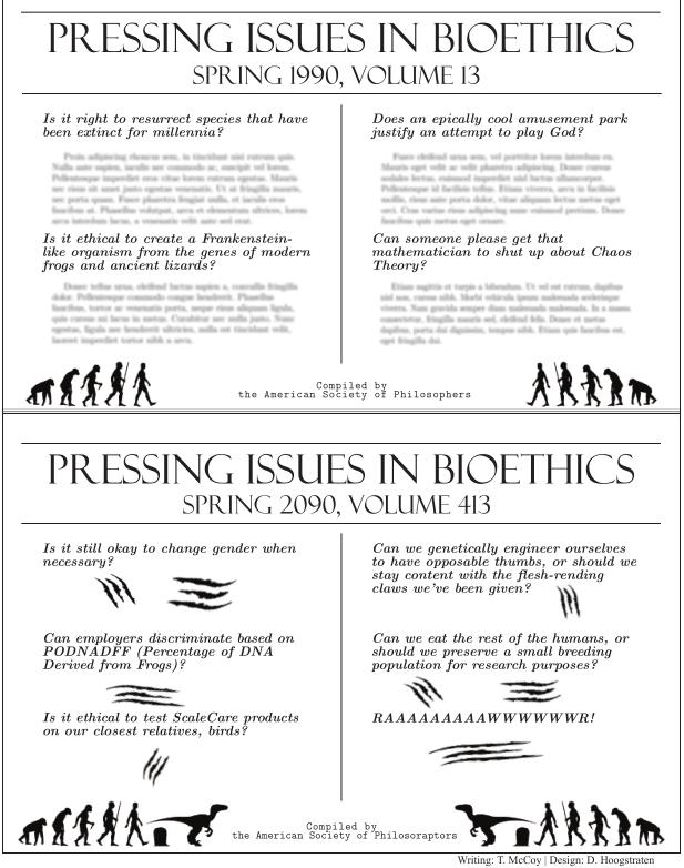 philosoraptor Pressing Issues in Bioethics