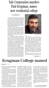 ydn krugman 169x300 YDN: Yale Corporation murders Paul Krugman, names new residential college
